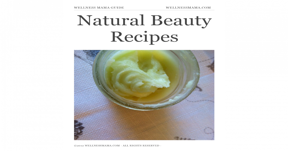 Natural Beauty Recipes 37pages Pdf Document